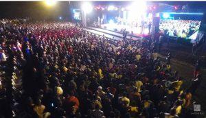 Drone view of the massive crowd present at Derizo Concert.