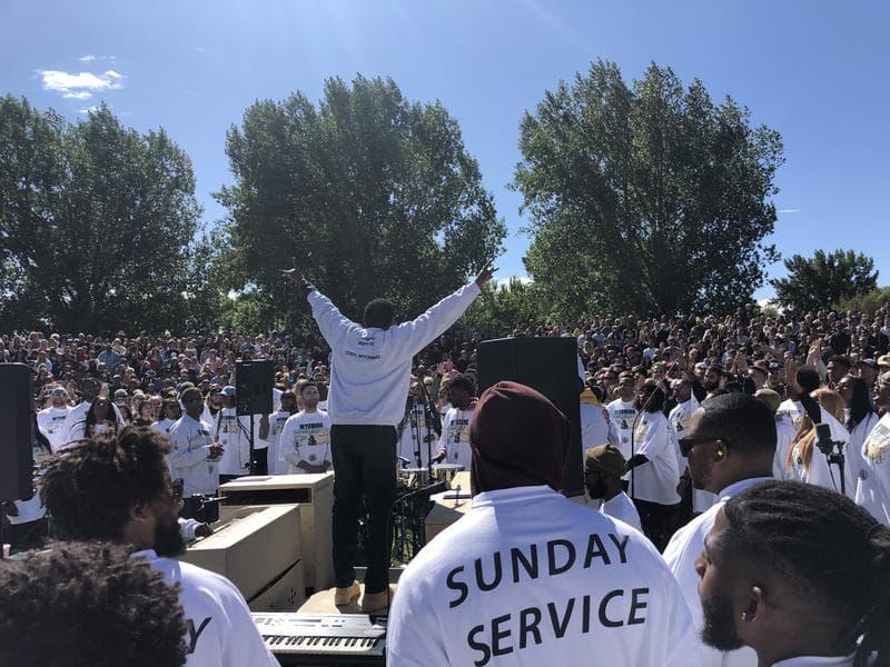 Kanyes Sunday service In Wyoming