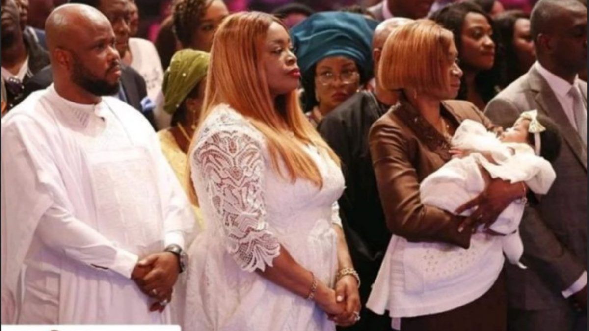 Sinach And Her Husband Dedicate Their Child In Church