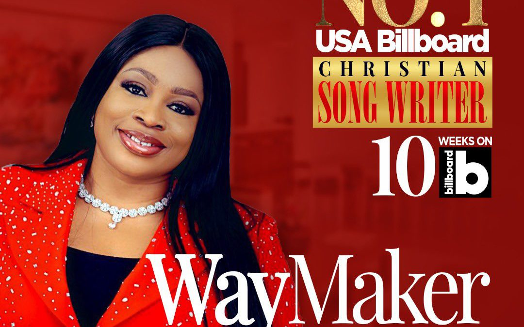 Sinach breaks another record: #1 for 10 weeks