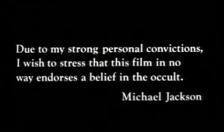 Thriller disclaimer