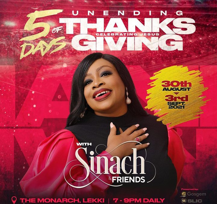 Sinach presents 5 Days of Unending Thanksgiving